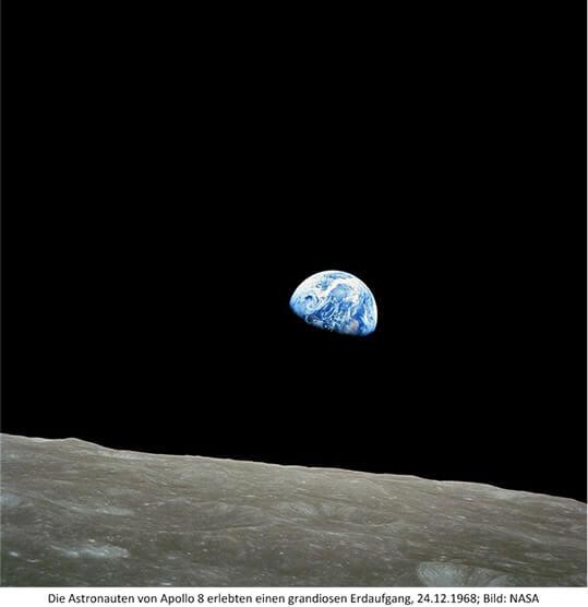 Erde vom Mond Apollo 8