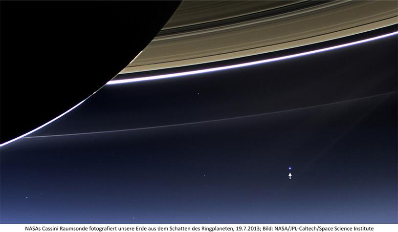 Erde vom Saturn Cassini 2013