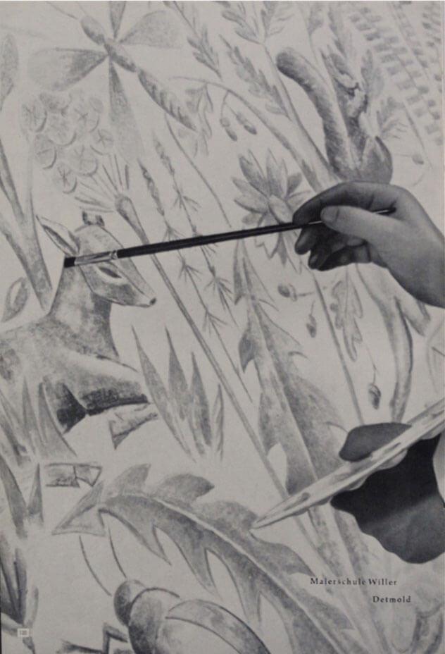 Kernthema der Malerschule: Dekorationsmalerei