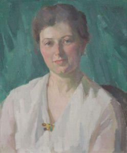 """Das verschwundene Portrait """"Frau mit Brosche"""" von Karl Henckel"""
