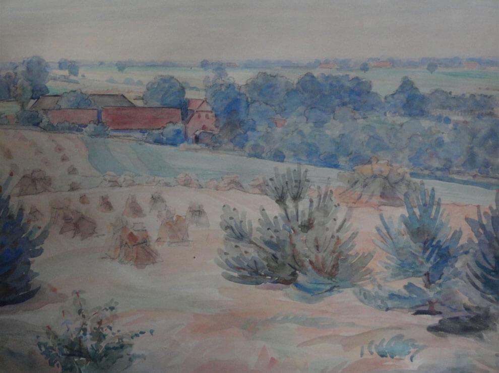 Stückescher Bauernhof in Reimershagen (etwa 1951)