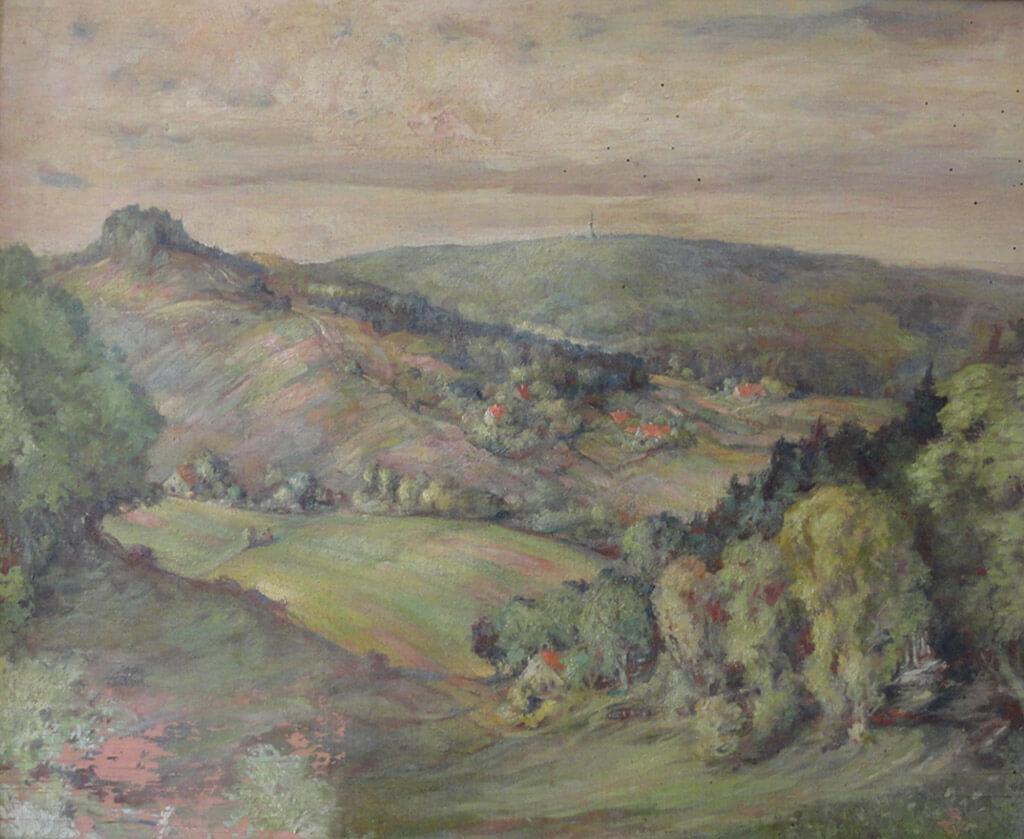 Blick vom Hangstein auf die Grotenburg