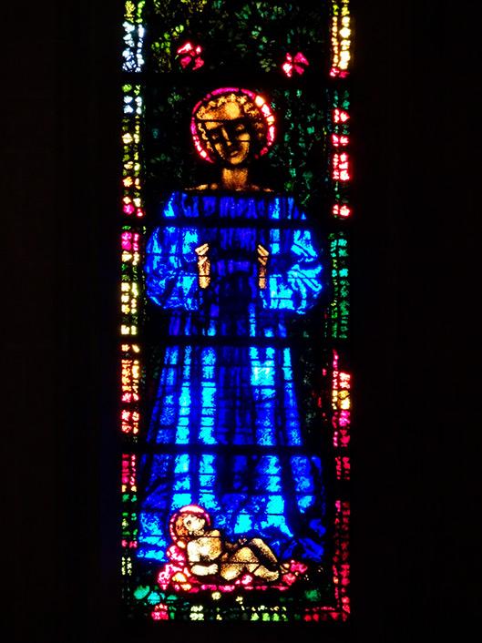 """Christi Geburt"" (Giacometti-Fenster im Zürcher Grossmünster)"