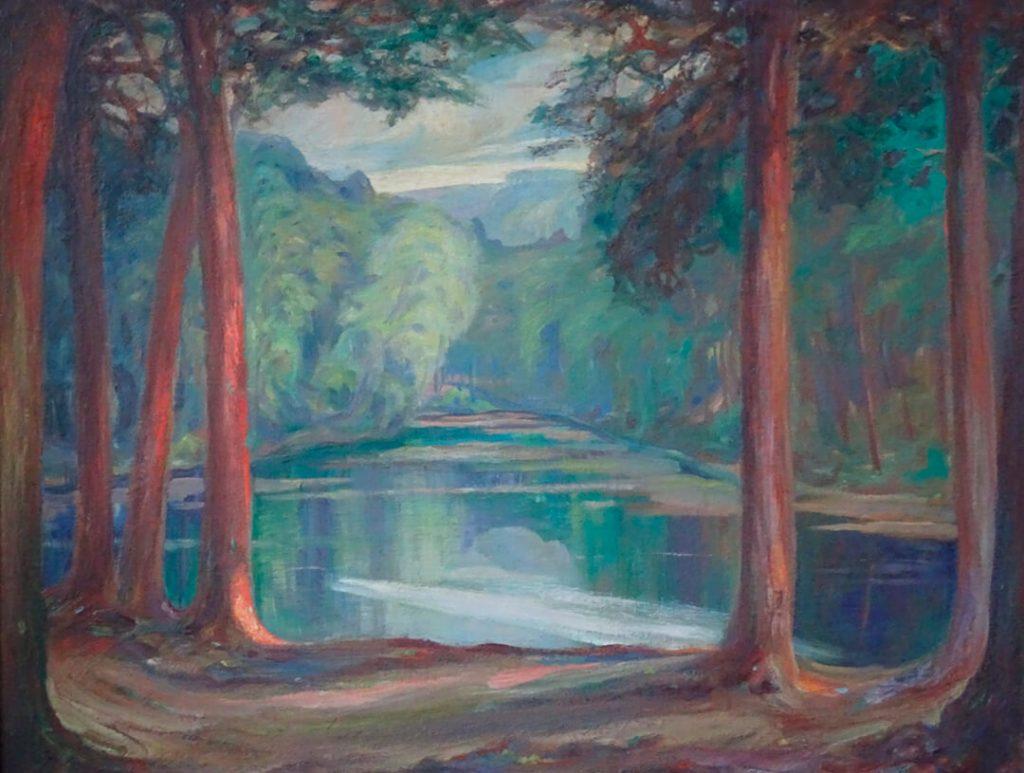 Abendstimmung am Donoper Teich (ca. 1925)