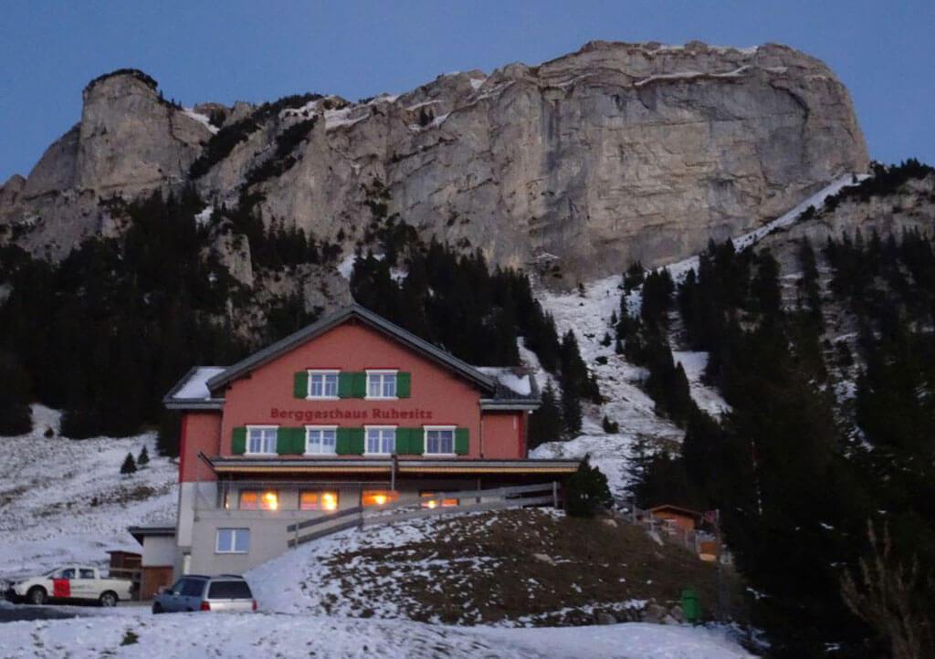 Der Berggasthof hat noch geöffnet