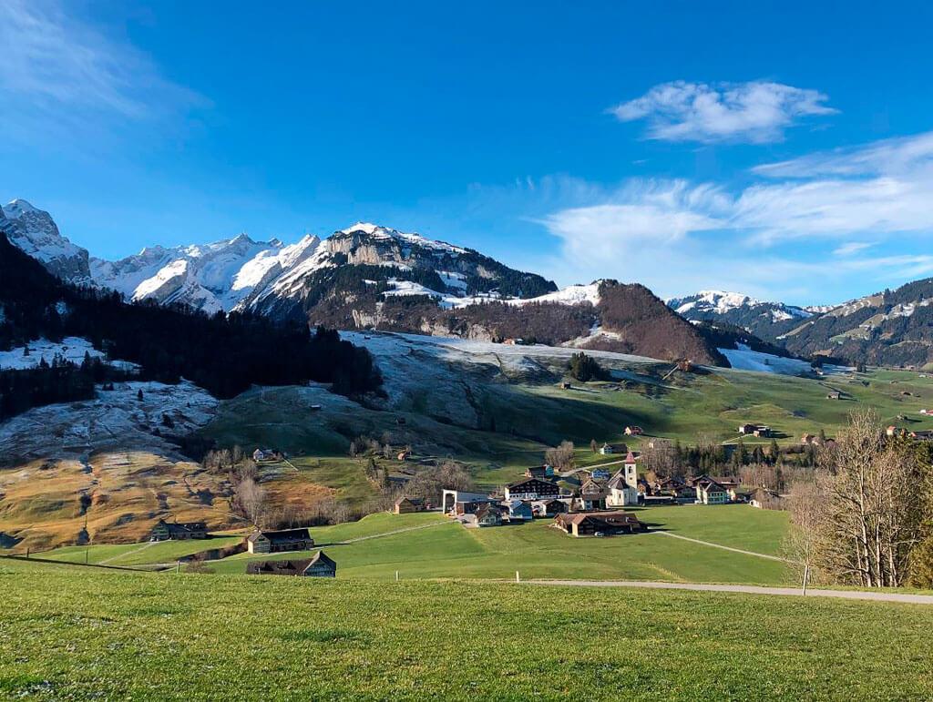 Blick ins Tal auf Brülisau